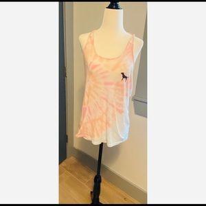 PINK tie dye tank from Victoria's Secret PINK